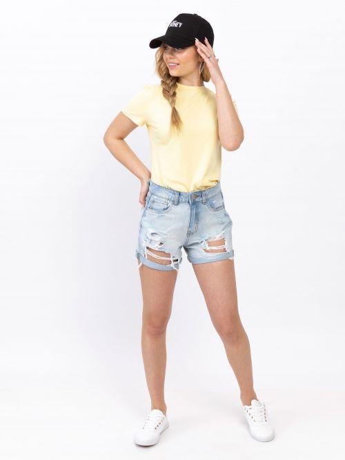 מכנסי ג'ינס קצרים   MOM