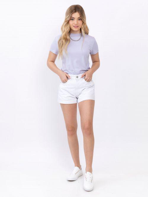 מכנסי ג'ינס לבנים קצרים | MOM