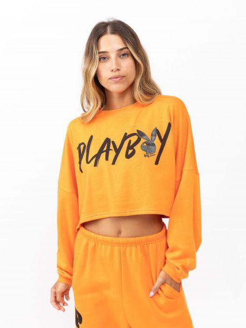 חולצת טי קרופ | PLAYBOY