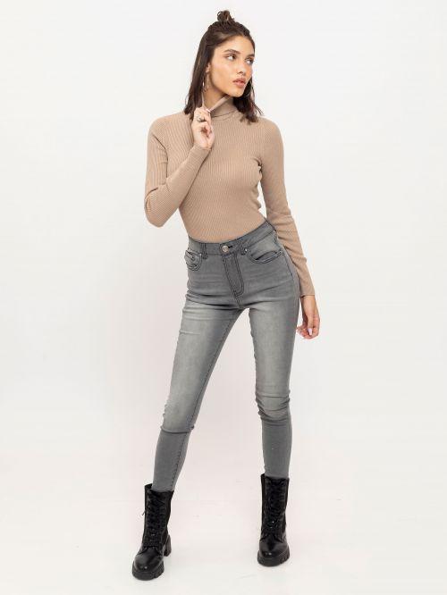 ג'ינס Miami סקיני אפור
