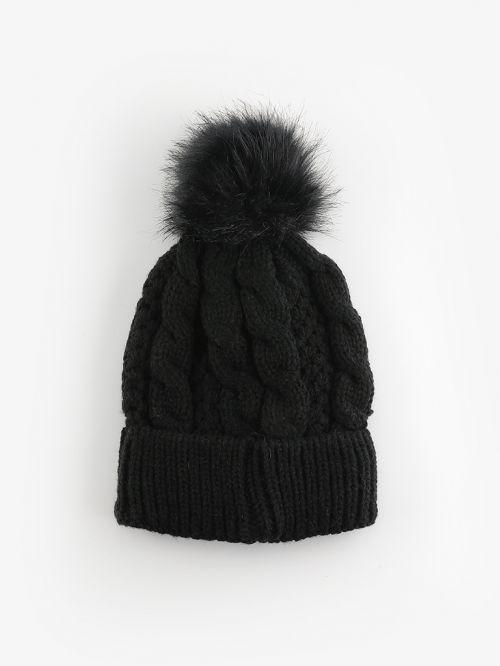 כובע צמר פונפון