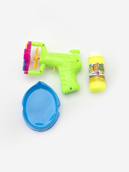 אקדח בועות סבון עם מיכל וקערת הכנה